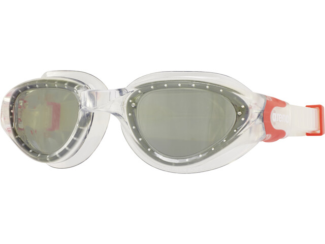 arena Cruiser Soft Goggle, clear-smoke-fluo red